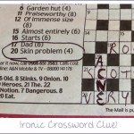 Ironic Crossword Clue